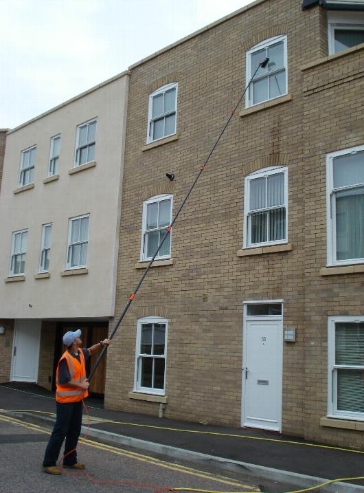 hot wash high reach window cleaning system